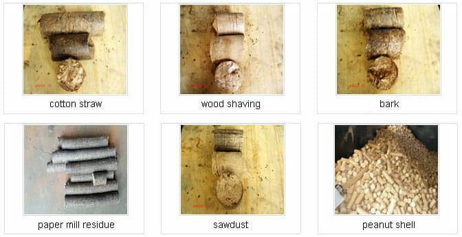 6 type of biomass briquette from Mechanical Briquetting Machine