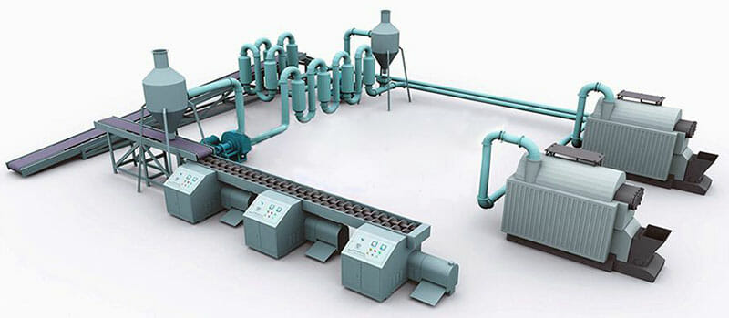 biomass briquetting and carbonization plant design