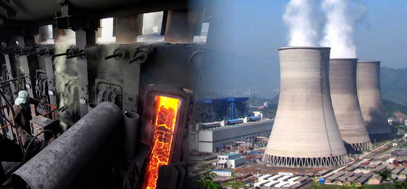 coke-oven plant and fossil fuel power plant