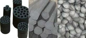 three coal briquette types
