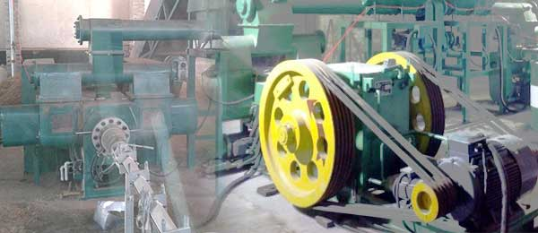 front and back view of mechanical briquetting machine
