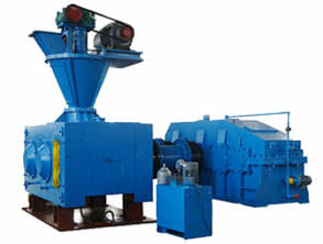 high pressure double shaft output briquette machine