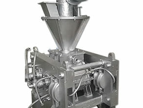 hot type briquette machine with cooling system