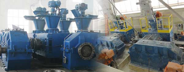 hydraulic double shaft roller briquetting press