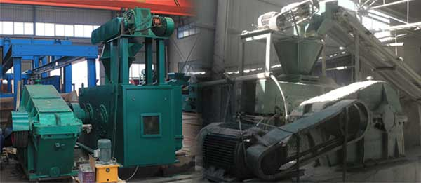 hydraulic single shaft roller briquetting press