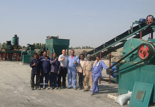 roller briquette plant in Middle East