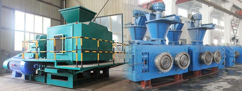 roller briquetting press single shaft type and double shaft type