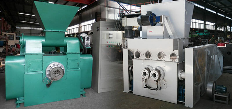 single output and double output mechanical briquetting machine