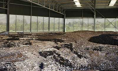 sludge and other by-product stored in the steel plant