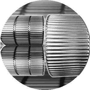 two types of roll pocket for compacting